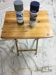 nautical tv tray table makeover cheryl phan