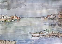 Aija Gibson harbor | Drawings, Art, Illustration