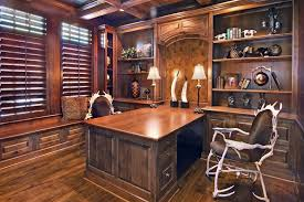 double sided desk home office contemporary with black bookcases