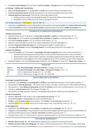 College Resume Template Templates For Free