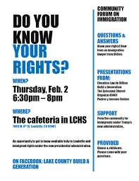 flyers forum community forum on immigration this thursday feb 2 at 6 30 p m