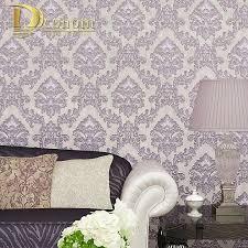 Eenvoudige Europese Vintage Luxe Damast Behang Voor Muren 3 D Home