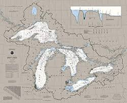 Great Lakes Navigation Charts Heritage Great Lakes Jigsaw Puzzle 1000 Pieces Nautical Chart Map