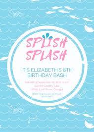 Pool Party Birthday Invitation Templates By Canva