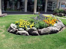 rock flower bed borders for your stunning garden large rock flower bed borders