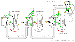 What Does A Three Way Light Switch Look Like 4 Way Switch With Power Feed Via The Light How To Wire A