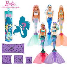 Búp Bê Barbie Màu Nước Tiết Lộ Búp Bê Thay Đổi Vẻ Mù Hộp Bất Ngờ