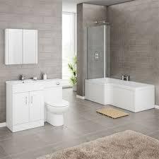 turin vanity unit bathroom suite inc square shower bath screen