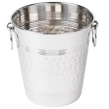 american metalcraft wb hammered stainless steel wine bucket