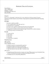 Bartender Resume Template Free – Letter Resume Collection