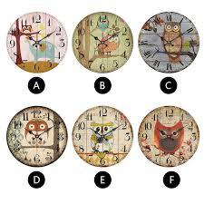 cute owl wall clock modern simple