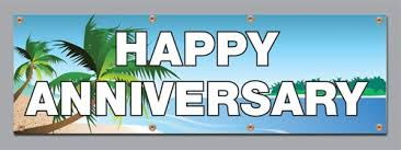 happy anniversary banners tropics happy anniversary vinyl banners vinyl signs from 19 95