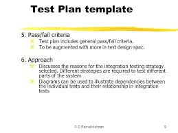 integration test plan template ideas entry level system testing 1 systems v quality and standards