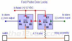 how to wire relays door locks ford probe door locks ford probe