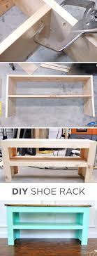 diy entryway shoe rach and bench