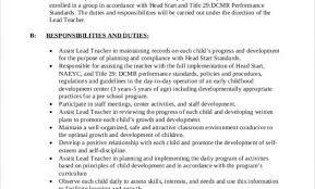 Preschool Teacher Assistant Job Description Resume Wonderful