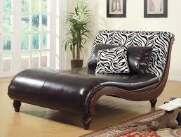 Zebra Print Living Room Contemporary Chaise Lounge Large Zebra Print Contemporary Chaise
