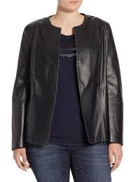marina rinaldi plus size eden nappa leather jacket black women s coats jackets