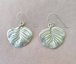 Silpada Designs Address Silpada Sterling Earrings Leaf Design Large Lily Pad Pierced