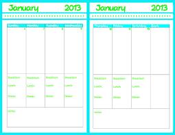 Week At A Glance Calendar Template 2013 Printable Calendar Ruminations And Reckonings