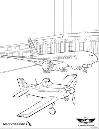 Take off with Dusty and American Airlines with these coloring ...