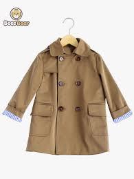boy s double ted polka design trench coat khaki child 10