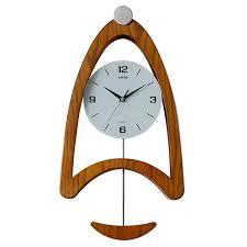 pendulum wall clock wooden living room