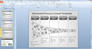 Funnel Powerpoint Template Free Free Horizontal Process Funnel Powerpoint Template Free
