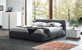 low platform beds with storage. Low Platform Bed King Grey Profile Frame With Modern White Side Table Red Beds Storage