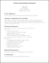 Resume Sample For Teaching Preschool Teacher Resume Sample Resumes Objectives Mmventures Co
