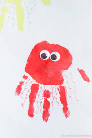 jellyfish drawing for kids. Exellent Drawing Kids Handprint Jellyfish Art Celebrate Summer With This Fun Handprint Kids  Craft Throughout Drawing For A