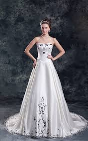 white and black wedding dress gowns two tone bridal dresses