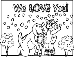 Small Picture Barney Friends Coloring Pages Wecoloringpage