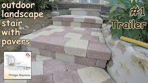 Cinder Block Stairs How To Build Steps With Pavers In A Garden 1 Trailer Youtube