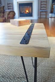 Diy rustic coffee table Stylish Im Loving The Simplicity Of This Diy Rustic Coffee Table Used Two H2obungalow Diy Rustic Coffee Table Tutorial H2obungalow