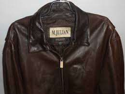m julian wilsons brown leather jacket