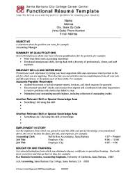 36 Printable Functional Resume Template Forms Fillable