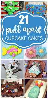 21 Pull Apart Cupcake Cake Ideas Its A Little Cuppy Cupcake