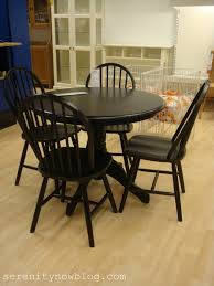 appealing smalll round black wooden bullnose edge dining table furniture gallery room chair slipcovers diy light