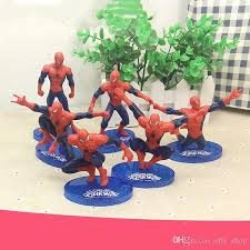 2019 Cartoon Spiderman Cake Boy Party Cupcake Toppers Picks Kids