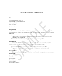 Financial Aid Appeal Letter In Doc