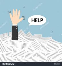 businessman need help under white paper stock vector 216830380 businessman need help under a lot of white paper flat design
