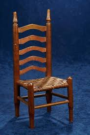 dolls wooden ladder back chair with rush seat chairs small furniture
