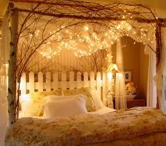 romantic bed room. Delighful Bed Bedroom With Fairy Lights Inside Romantic Bed Room A