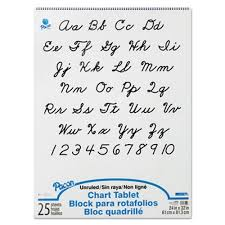 Pacon Calendar Weather Pocket Chart Pacon Chart Tablets Unruled 24 X 32 White 25 Sheets Pad Pac74510