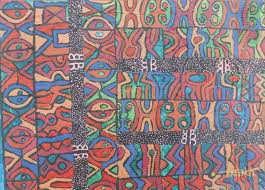 Cultural Patterns Classy African PatternCultural Mixed Media PaintingTitleA Prayer In