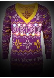 Minnesota Vikings Light Up Sweater Minnesota Vikings Womens Light Up V Neck Bluetooth Sweater