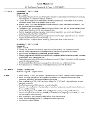 sharepoint developer resume sharepoint developer resume samples velvet jobs