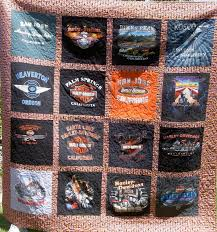 Fabric Creations by Kathy - Home & T-shirt quilt-floating style Harley T-shirt quilt-block style Adamdwight.com