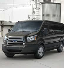 ford van. the transit passenger wagon can help keep its passengers comfortable. ford van